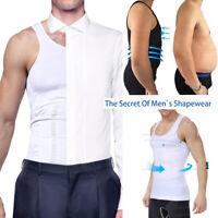 Men Body Shaper Slimming Shirt Compression Vest Elastic Sculpting Slim Shapewear