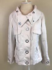 Laurel by Escada Beige Snap Front Parka Jacket Size 10