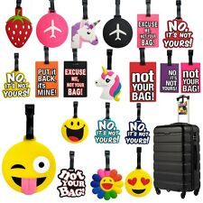 LUGGAGE TAGS COLORFUL PATTERNED FASHION HOLIDAY SUITCASE LABELS TRAVEL BAG ID