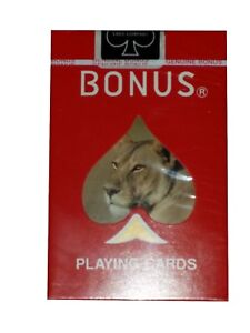 Bonus Bridge Deck Playing Cards Lioness Lion African Wild Life Bicycle