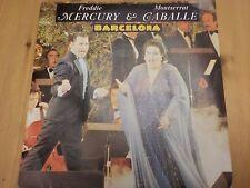 """Posp 887 Reino Unido 7"""" 45 Rpm 1987 Freddie Mercury & Montserrat gaballe """"Barcelona"""" EX/en muy buena condición"""