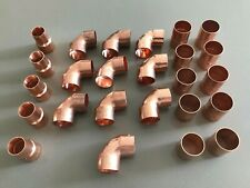 Job Lot 28mm End-Feed Copper Pipe Plumbing Fittings