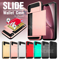 Wallet Case Credit Card ID Holder Slim Case Phone Cover for iPhone XR XS MAX X