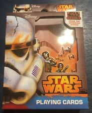 New Sealed Disney Star Wars Rebels Playing Cards in Collectible Tin Case Poker
