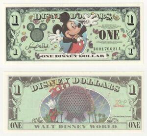 Mickey Mouse Epcot Millennium 1 Disney Dollar - Series 2000 Disneyland  - UNC.