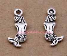 P923 20pc Tibetan Silver mermaid Charm Beads Pendant accessories wholesale