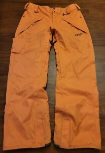 Volcom Marot Men's Ski Snowboarding Winter Snow Pants Size Large Orange Vented