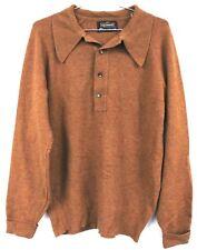 Men's 70's vintage Puritan Aquaknit Lambs Wool  Sweater Medium M Rust Disco