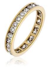 Diamond Full Eternity Wedding Ring 1.00ct Brilliant Cut F VS1 18ct Yellow Gold