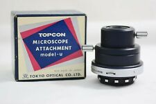 TOPCON CAMERA MICROSCOPE ATTACHMENT MODEL U