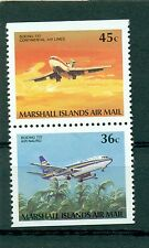 AEREI - PLANES MARSHALL ISLANDS 1989 Common Stamps Pair