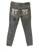Seven 7 Jeans Womens Skinny Leg Size 2 x 28 Low Rise Slim Stretch Black Colored