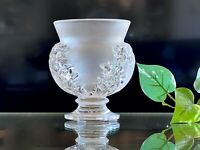 "Lalique St Cloud Vase Authentic, And In Mint Condition! 4.5"" Tall"