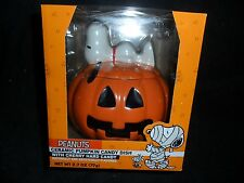 PEANUTS CERAMIC CANDY DISH.......THE GREAT PUMPKIN....CHARLIE BROWN....SNOOPY