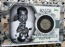 LOUIS ARMSTRONG 2011 Topps American Pie 1971 Genuine Nickel Coin RARE 19/25 $$$