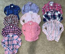 Euc Abercrombie and Fitch Kids Lot of 10 Girls Button Up Tops Youth Girls Ym-As