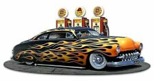 1949 Flame Mercury Kustom by Larry Grossman Plasma Cut Metal Sign