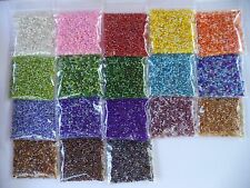 Huge Lot 18 Color Mixes 10/0 Seed Beads 288 Grams Thousands of Beads Free Ship!!
