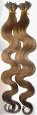 """I-Tip Pre-Bonded Extensions Finest European Remy Hair 100 Strands 18"""" Color #12"""