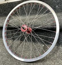 Vintage Mongoose Pro Original Bmx Wheels 80's With Bullseye Hubs and Suntour Fw.