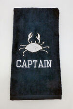 Personalized Embroidered Golf/Bowling Towel The Crab
