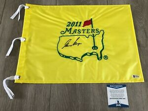 GARY PLAYER SIGNED AUTOGRAPH 2011 MASTERS PIN FLAG w/EXACT PROOF BECKETT BAS COA
