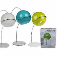 RETRO 60S STYLE GLASS AND METAL COLOURED DESKLAMP DESK LAMP