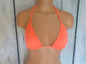 S/P Victoria's Secret Swim Teeny Triangle Padded Bikini Top Coral 626 New