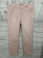 SO SLIMMING by Chicos Pink Denim Slim Crop Leg Jeans - Chicos Size 1