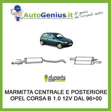 MARMITTA SILENZIATORE POSTERIORE + CENTRALE OPEL CORSA B 1.2 16 V DAL 98 AL 00