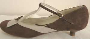 I love Billy Wmns T-Bar Mary Jane Fringed Tongue Low Heel Leather Shoes Size 38