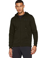 Under Armour Rival Fitted Full Zip Hoody Jacket Mens Size UK Small Green *REF138