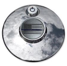 MotorDog69 Thin Blue Line Harley Fuel Door Cover Coin Mount