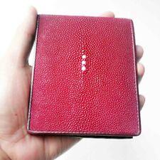 RED Stingray Wallet Men Wallet Stingray Skin Bifold Leather Genuine
