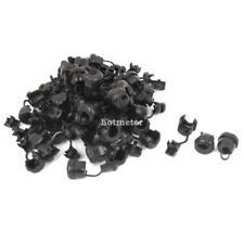 H● 60 Pcs 6N-4 Black Nylon Strain Relief Bushing Electric Wire Clip