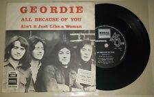 """GEORDIE (AC/DC) ALL BECAUSE OF YOU RARE ISRAELI 7"""" EP NM DIFFERENT COVER ISRAEL"""