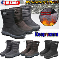 Womens Winter Snow Boots Ankle Fur Lined Warm Shoes Casual Outdoor Waterproof