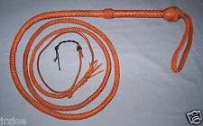 8 Foot 12 Plait Shot Loaded TAN Bull Whip INDIANA JONES Leather BULLWHIP #SW1