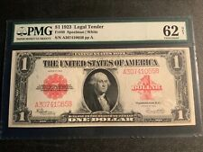 FR40 $1 1923 Legal Tender PMG62 uncirculated Net paper damage, foreign substance