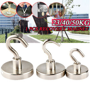 23/40/50kg Recovery Magnet Hook Strong Sea Fishing Diving Treasure Hunting