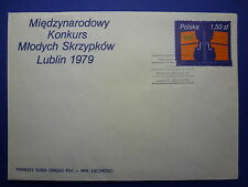 LOT 12565 TIMBRES STAMP ENVELOPPE MUSIQUE POLOGNE ANNEE 1979