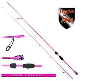 Skorpion ultra light pink Spoon Checker Rute 210cm Spoonrute Forellenrute 0-5 gr