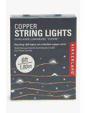 Kikkerland Copper String Lights Wire Battery Powered LED Fairy Lights Thin Wire