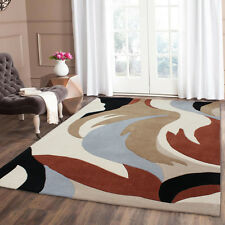NEW SMALL MEDIUM LARGE MODERN 1-2 CM THICK MULTI COLOUR ACRYLIC DESIGNER RUGS