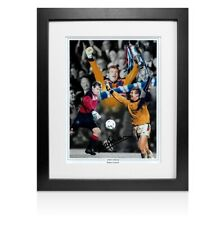 Framed Andy Goram Signed Photo - Rangers Legend - Montage Autograph