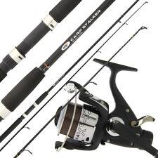 NGT 8ft 2pc Black Carp Stalker Fishing Rod + Max 40 2BB Carp Runner Reel & Line