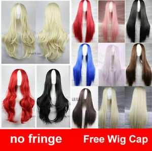 Womens  Long Wavy Curly Synthetic Cosplay Wigs Hair Party Heat Resistant Party
