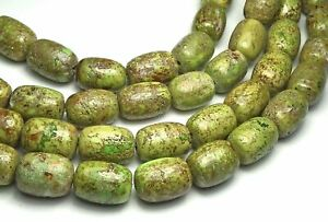Australian GASPEITE 14mm Barrel Beads NATURAL