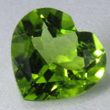 3.34Cts Luxury Look Natural Green Peridot Lovely Heart Shape Loose Gemstone VDO