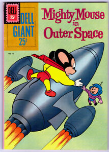 MIGHTY MOUSE IN OUTER SPACE #43 in VF- a 1961 DELL GIANT Silver Age comic
